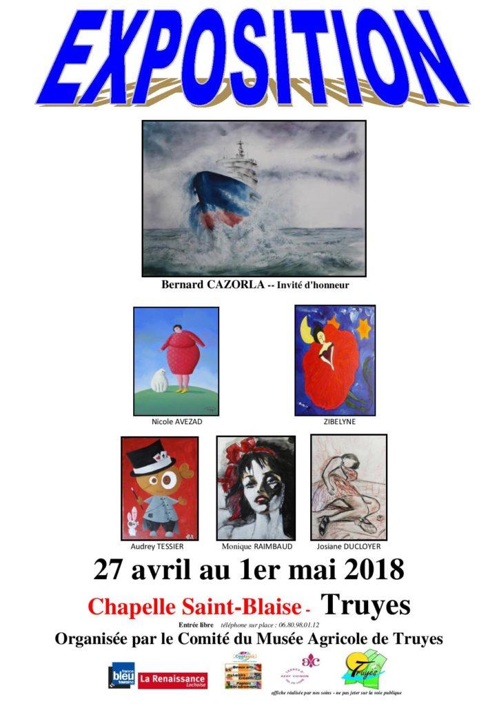 Exposition de Peinture # Truyes @ Chapelle Saint Blaise | Truyes | Centre-Val de Loire | France