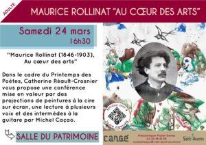 Conférence sur Maurice Rollinat # Saint - Avertin @ Salle du Patrimoine Cangé | Saint-Avertin | Centre-Val de Loire | France