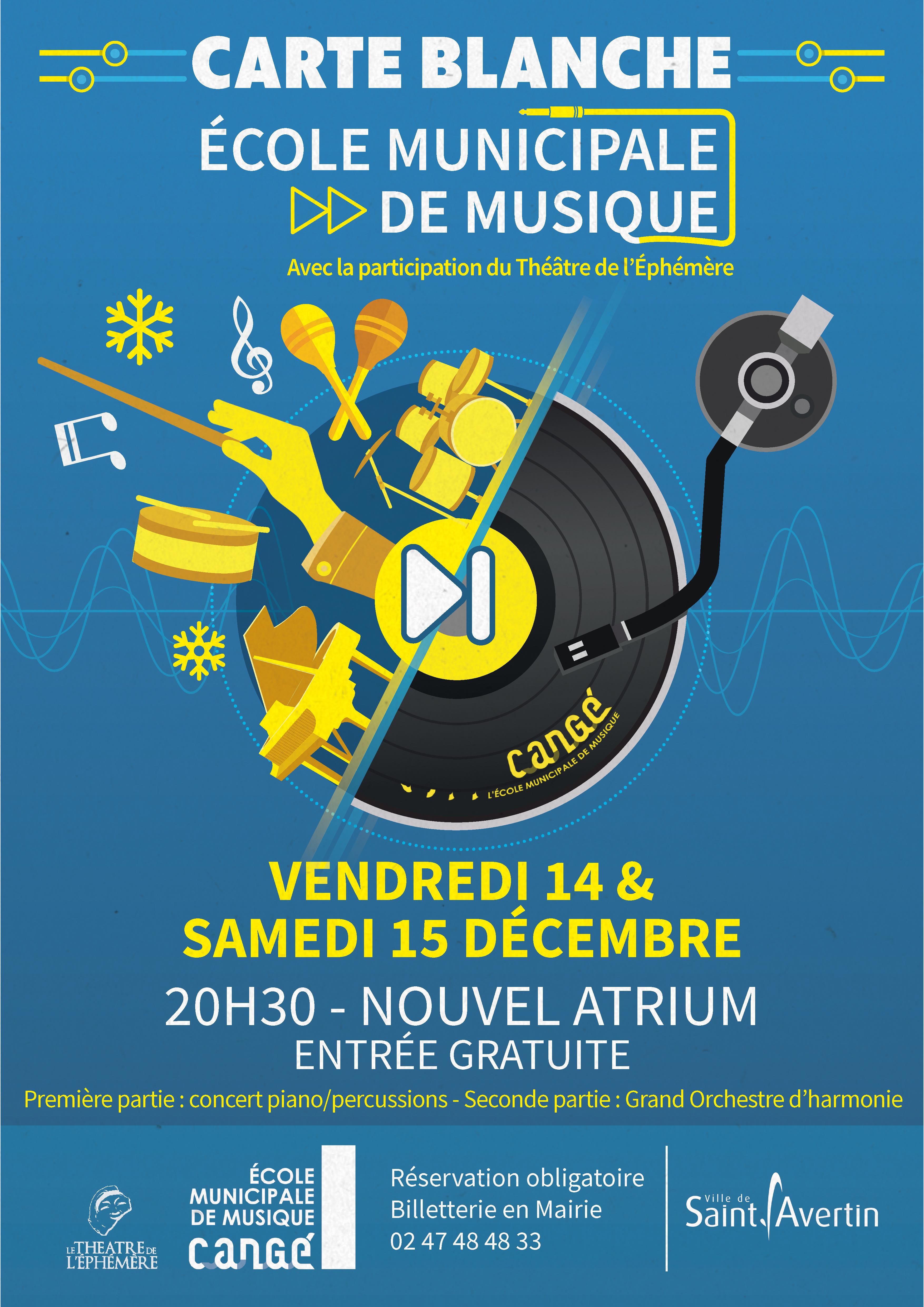 Carte blanche à l'Ecole de Musique # Saint Avertin @ Nouvel Atrium | Saint-Avertin | Centre-Val de Loire | France