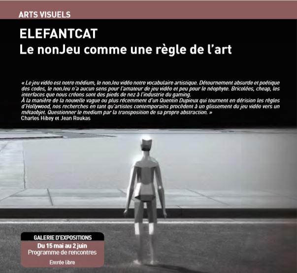 ELEFANTCAT Le nonJeu comme une règle de l'art # Saint Pierre des Corps @ Galerie d'exposition Chabrier | Saint-Pierre-des-Corps | Centre-Val de Loire | France