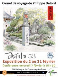"""Tokaido 53"" de Philippe Delord # Chambray lès Tours @ Médiathèque"
