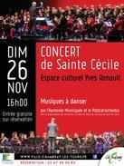 Concert de la Sainte Cécile  # Chambray lès Tours @ Espace culturel Yves Renault | Chambray-lès-Tours | Centre-Val de Loire | France