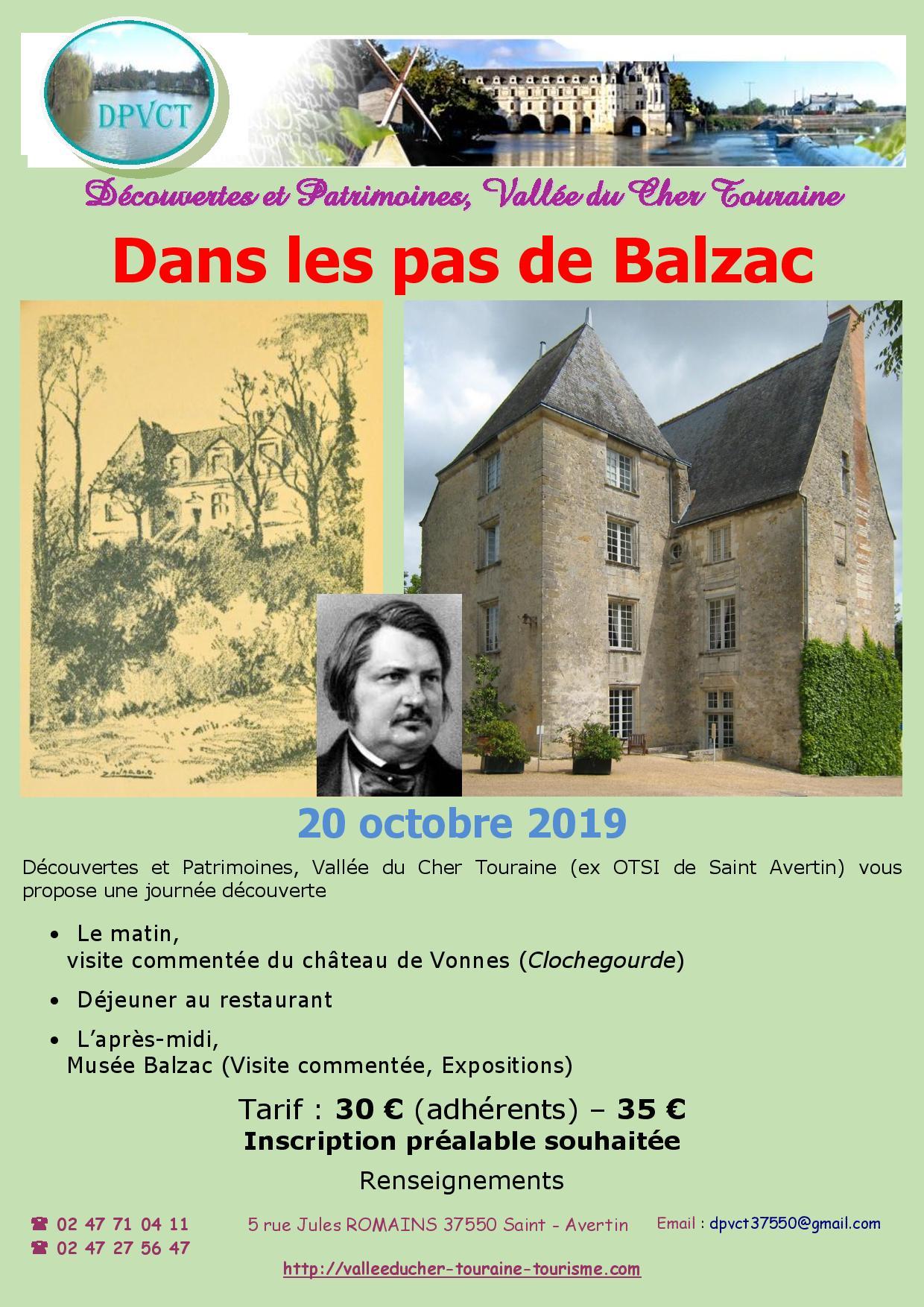 Journée Dans les pas de Balzac @ Manoir de Vonnes | Richelieu | Centre-Val de Loire | France