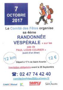Randonnée Vespérales : sur les pas de Paul Louis COURIER  # Saint Avertin @ Saint-Avertin | Centre-Val de Loire | France