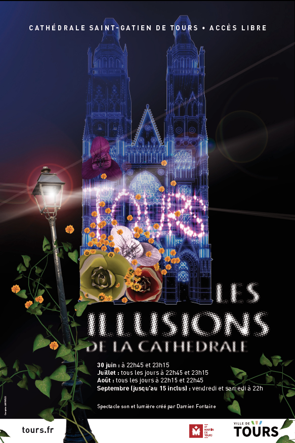 Les Illuminations de la Cathédrale # Tours @ Cathédrale Saint Gatien  | Tours | Centre-Val de Loire | France