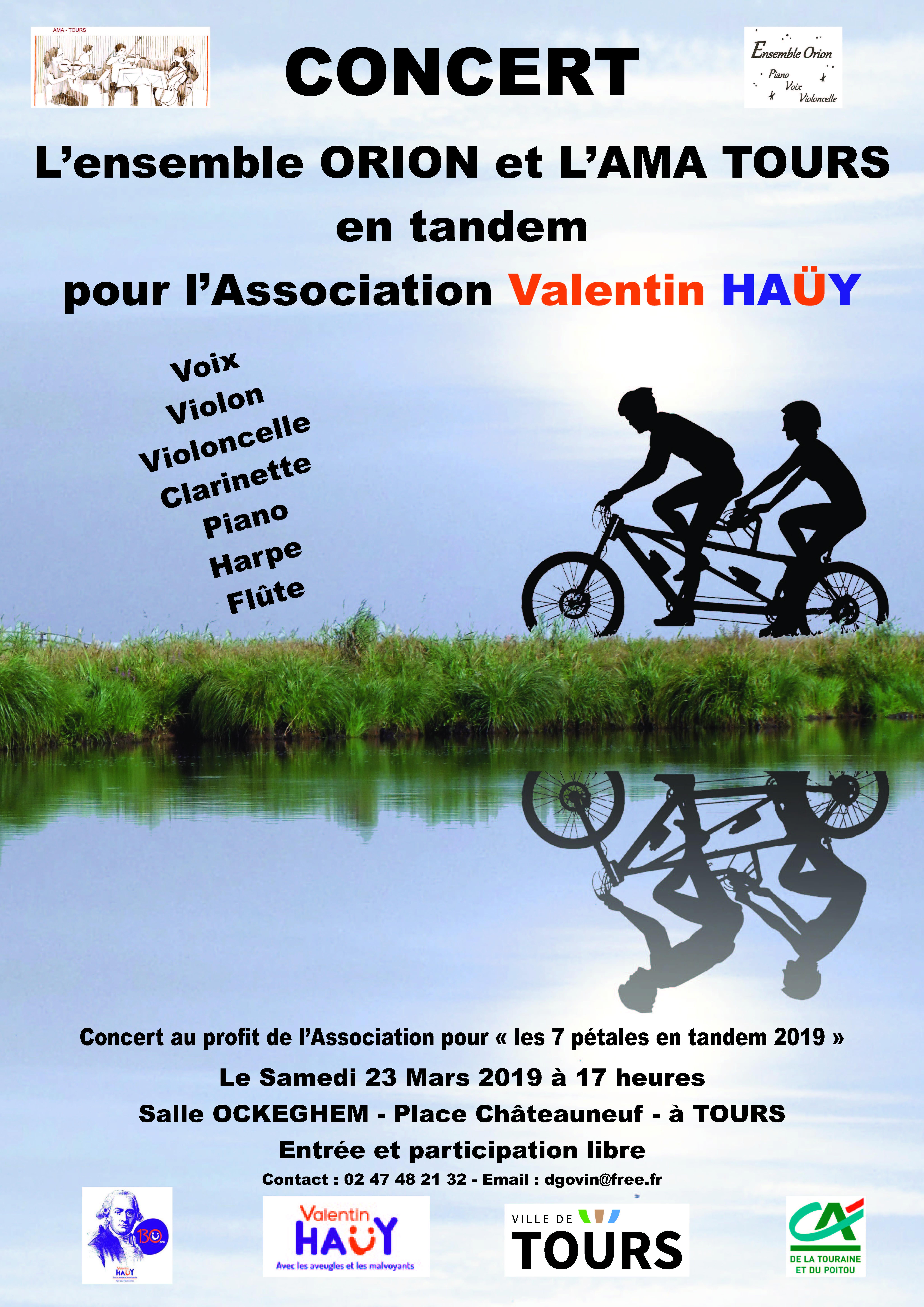 AMA et Orion en Tandem pour Valentin Haüy # Tours @ Salle Jean de Ockeghem | Tours | Centre-Val de Loire | France