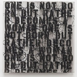 """ Dark Continent "" de Ghada Amer # Tours @ Centre de Création Contemporaine Olivier Debré   