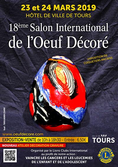 18 ème Salon de l'Oeuf décoré # Tours @ Salle des Fêtes de l'Hôtel de Ville | Tours | Centre-Val de Loire | France