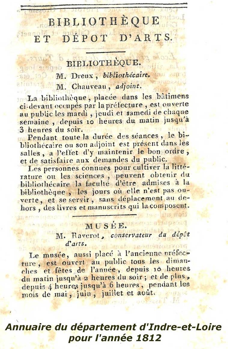 Samedi du Patrimoine : «L'histoire de la Bibliothèque» # Tours @ Bibliothèque Centrale