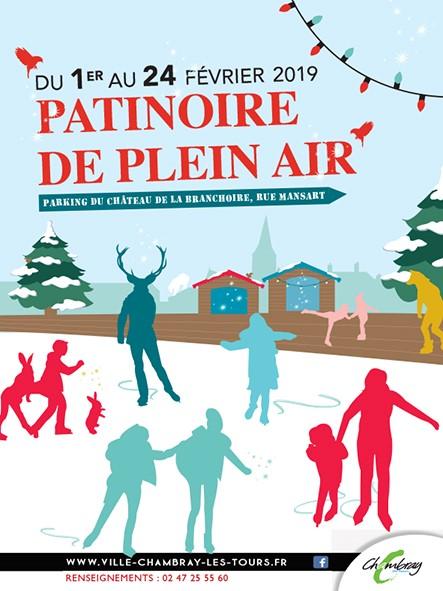 Patinoire éphémère # Chambray lès Tours @ Parking du château de la Branchoire