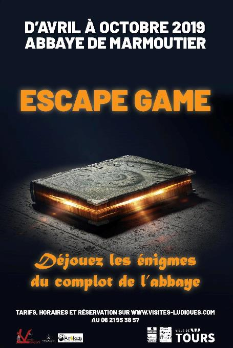 Escape Game Complot à l'abbaye # Tours @ Abbaye de Marmoutier