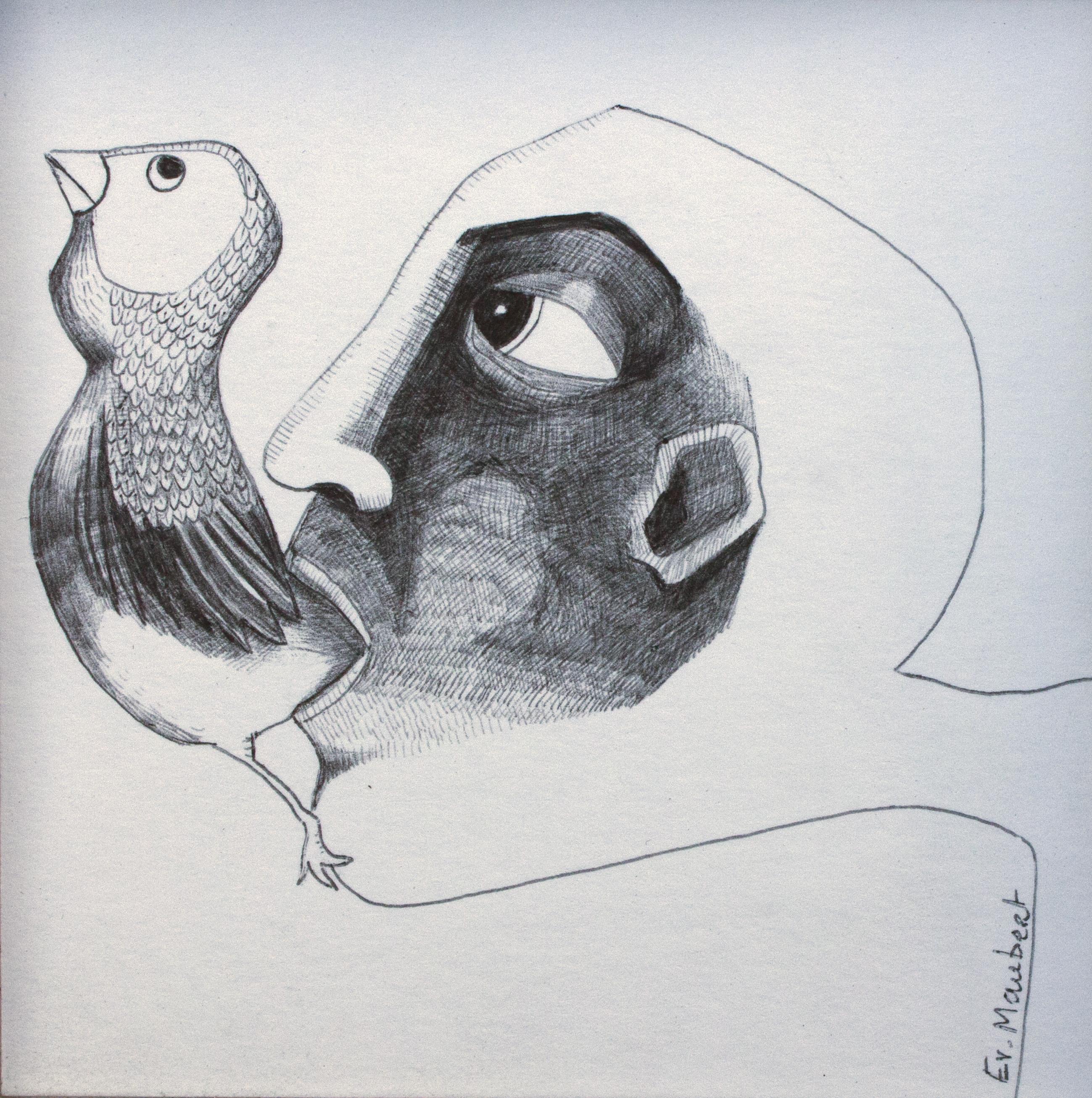 Mono-type(s) d'Evelyne Maubert # Tours @ La Boite Noire, Espace de Créations Contemporaines