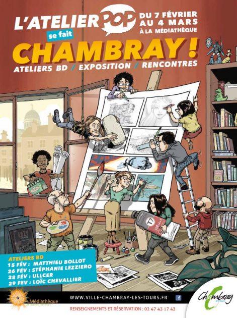 Autour de la BD – 2 ème édition # Chambray lès Tours @ Médiathèque