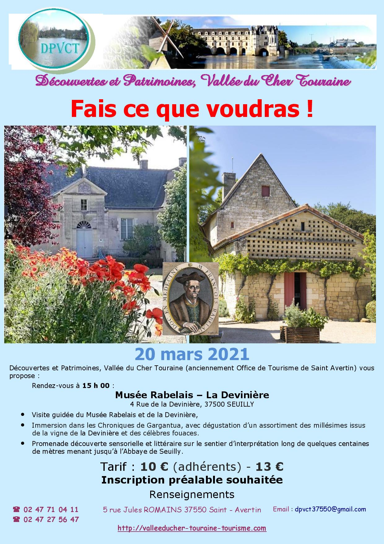 Fais ce que voudras ! # Seuilly @ Musée Rabelais – La Devinière | Richelieu | Centre-Val de Loire | France