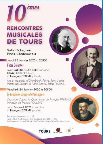 10 èmes Rencontres Musicales de Tours  # Tours @ Salle Jean de Ockeghem | Tours | Centre-Val de Loire | France
