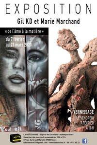 """""""De l'âme à la matière""""  # Tours @ La Boite Noire, Espace de Créations Contemporaines"""