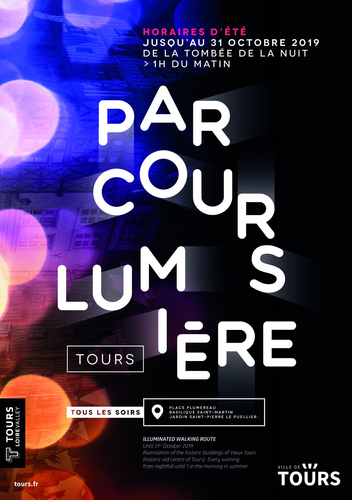"""Parcours Lumière """" Vieux-Tours """" # Tours"""