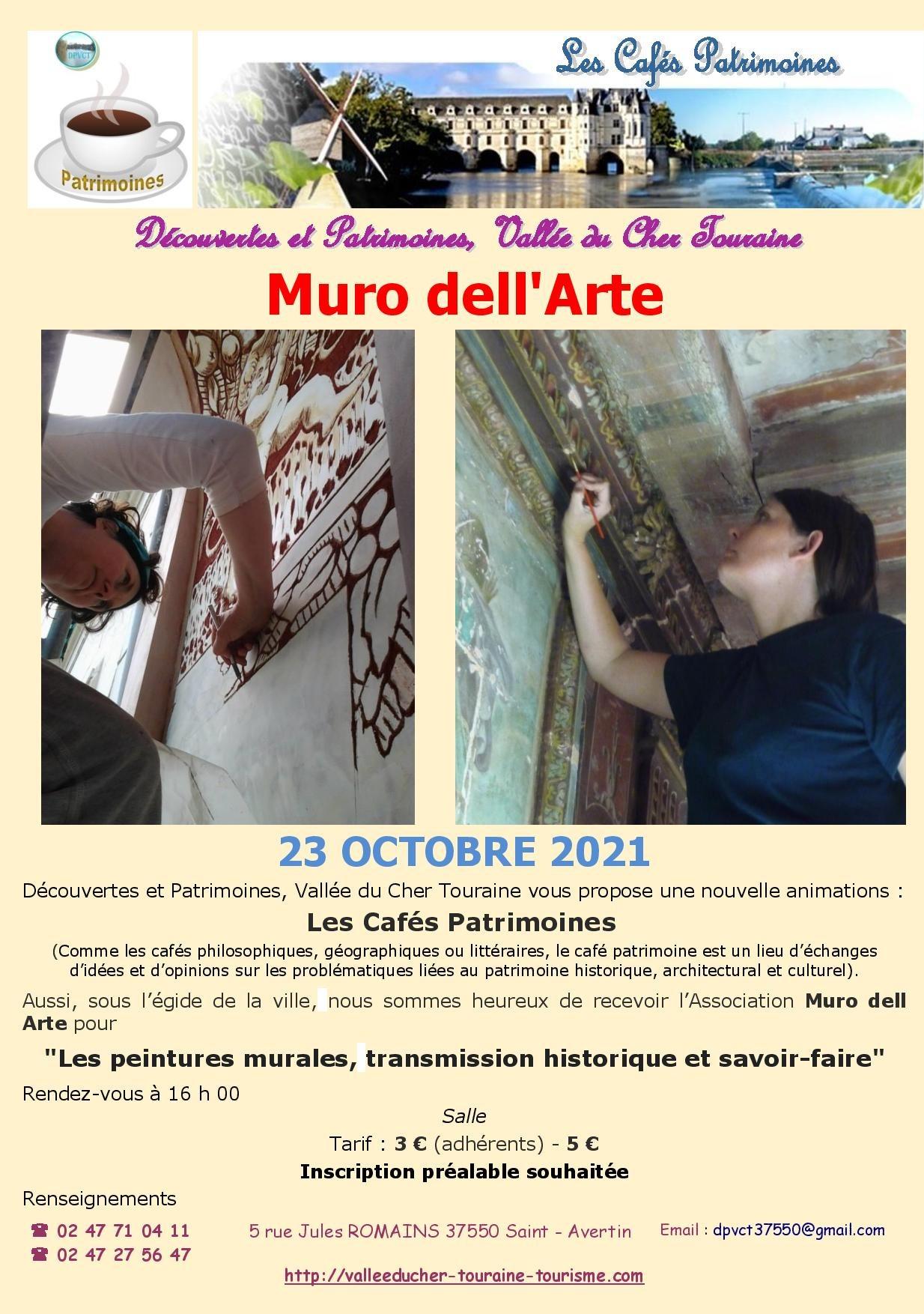 Les Cafés Patrimoines : Muro Dell Arte … # Saint Avertin @ Salle du Patrimoine, Domaine de Cangé | Saint-Avertin | Centre-Val de Loire | France